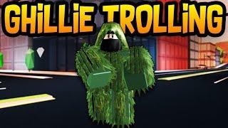 Ghillie Suit Trolling! Roblox Jailbreak