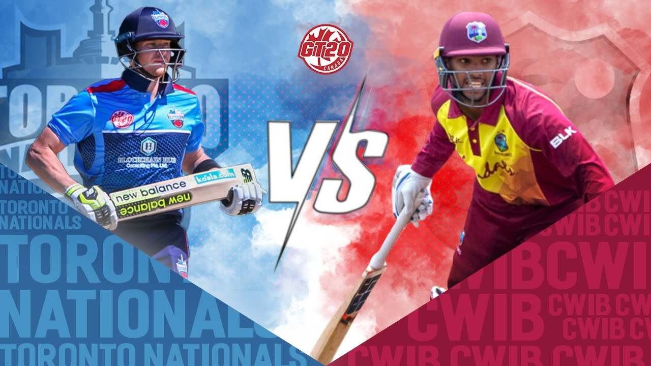 Toronto Nationals vs West Indies B   GT20 Canada Season 1 Match 12 Highlights