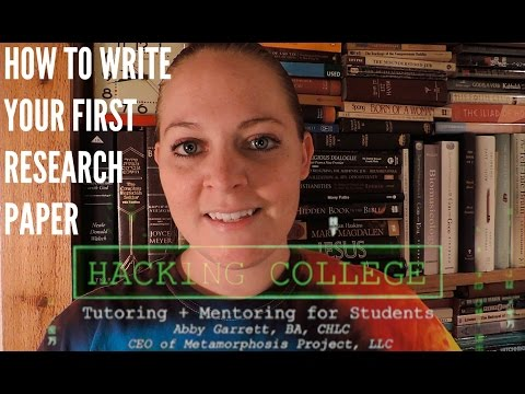 Mindset Lab #1 - Hacking College: Writing Your First Research Paper
