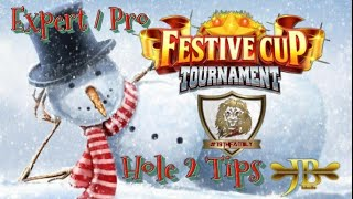 Golf Clash, Festive Tourney  Hole 2 *Power Curl Tutorial* Expert/Pro