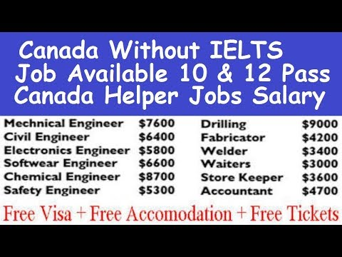 without ielts work visa in canada