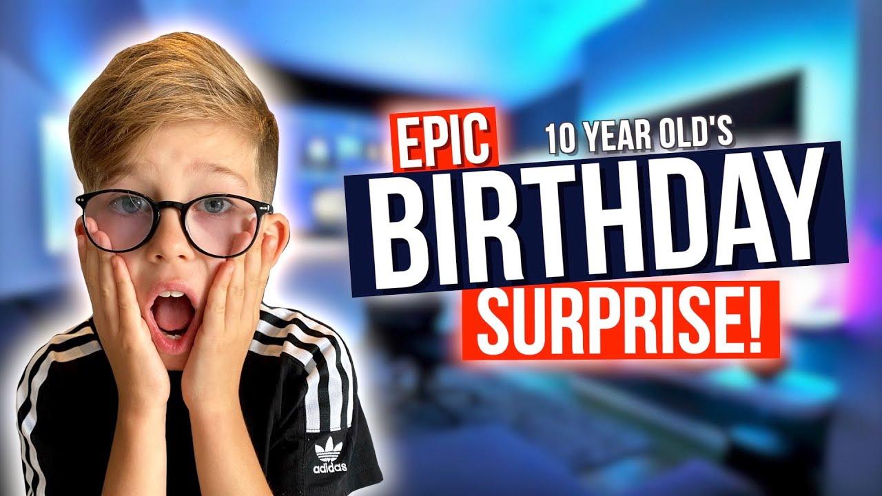 WE SURPRISED HIM *EPIC GAMING ROOM!!