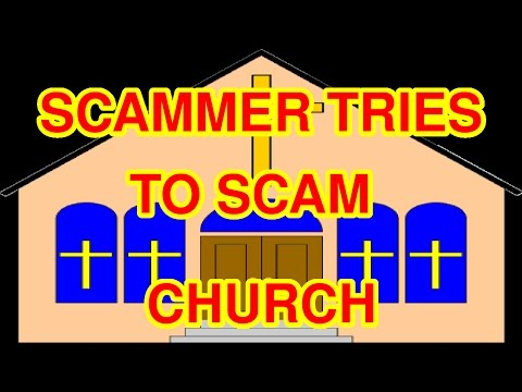 Deacon Ira Hayes calls a scammer