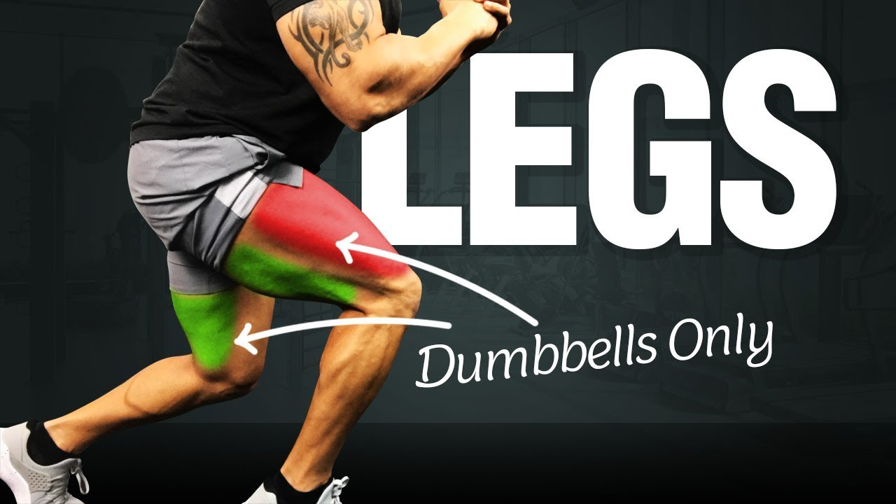 Leg Workout At Home: Great Dumbbell Leg Routine!! - YouTube