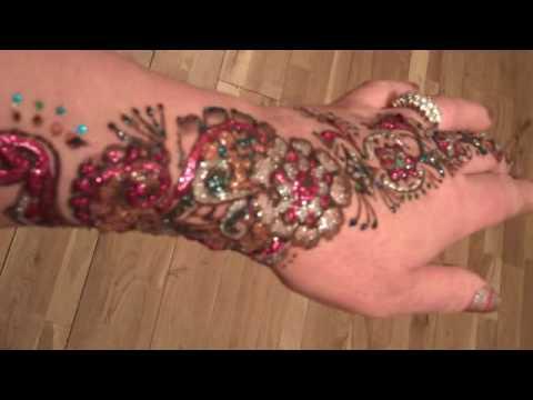Glitter tattoo Mendi  Henna  Valentino Design