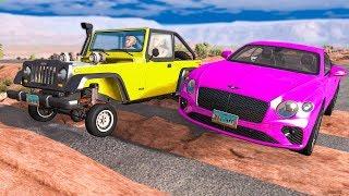 CARS vs OBSTACLE COURSES #1 - BeamNG Drive | CRASHdriven