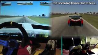 rFactor 2 G27 mod (Online Race, +30 players) gameplay