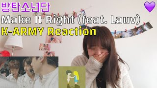 "Baixar 💜  BTS 방탄소년단 ""'Make It Right (feat. Lauv)"" K-Army Reaction 아미리액션"
