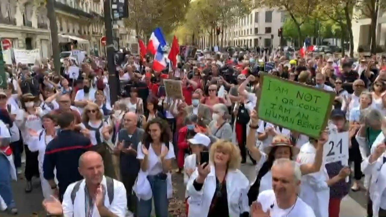 Download Manifestation de soignants contre la vaccination obligatoire   AFP Images