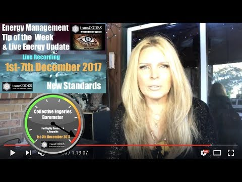 1st -7th December 2017 Live Energy Update & Energy Tips (Week 49) With Jona Bryndis