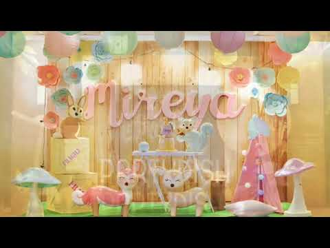 Pastel Woodlands Themed Party By Party Dish- Event Styling