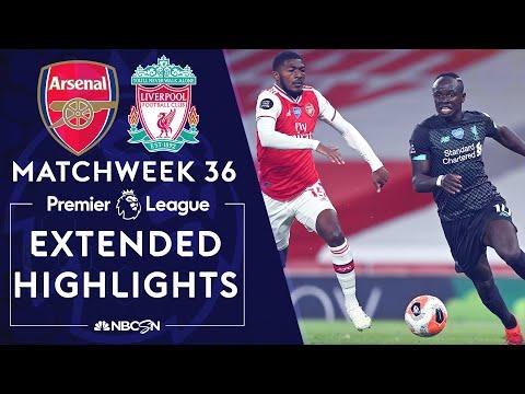 Arsenal v. Liverpool   PREMIER LEAGUE HIGHLIGHTS   7/15/20   NBC Sports