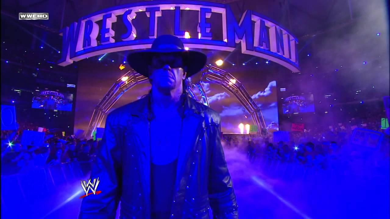 Undertaker makes his entrance WrestleMania 27  YouTube
