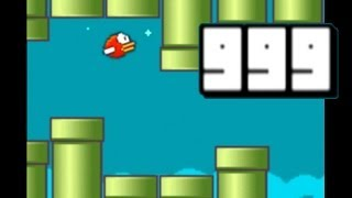 Repeat youtube video Flappy Bird - High Score 999! impossible!