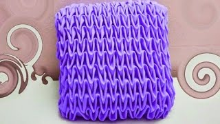 SMOCKING Cushion  cover making Design latest capiton fabric craft punto cojin