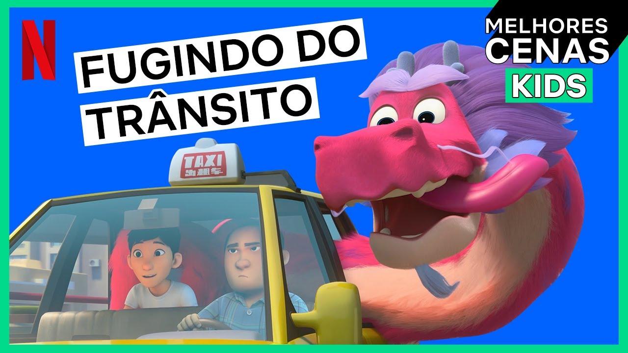 O melhor jeito de fugir do trânsito | Din e o Dragão Genial | Netflix Brasil