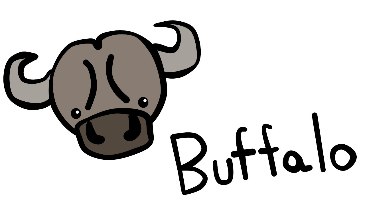 Uncategorized How Do You Draw A Buffalo cute and quick 2 0 how to draw a buffalo youtube