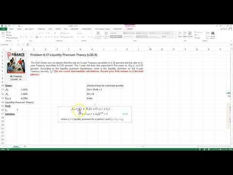 Liquidity Premium Theory on Excel