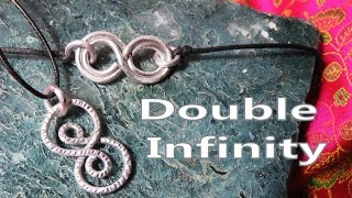 Download Video Easy Jewelry Making Tutorial - Double Infinity Wire Pendant MP3 3GP MP4