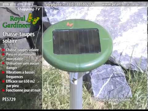 Pe5729 chasse taupes solaire youtube - Faire fuir les taupes ...