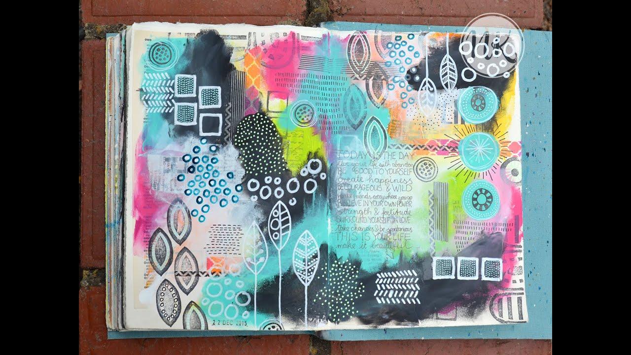 Art Journal Calendar Tutorial : Nat s art journal tutorial nd december youtube