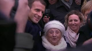 Una anciana confunde a Merkel con la mujer de Macron: