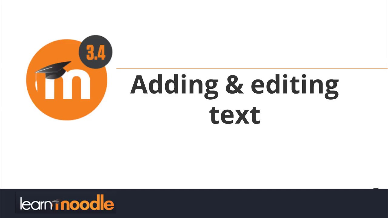 adding and editing text moodle 3 4 youtube