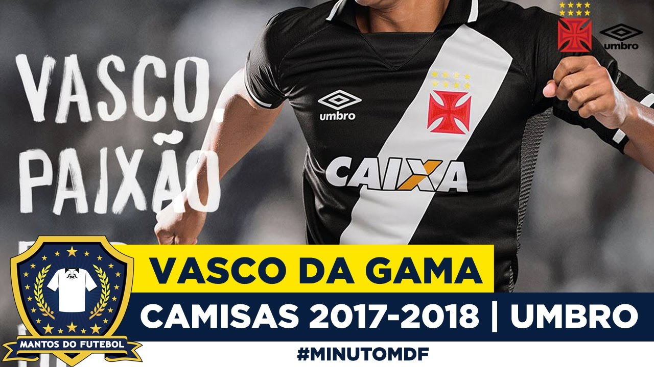 ⚪⚫Camisas do Vasco da Gama 2017-2018 Umbro - YouTube e2e0a5508b5ae