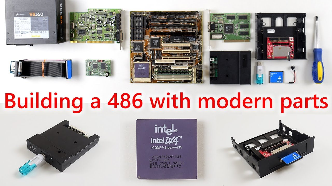 Building a 486 DOS PC with modern parts