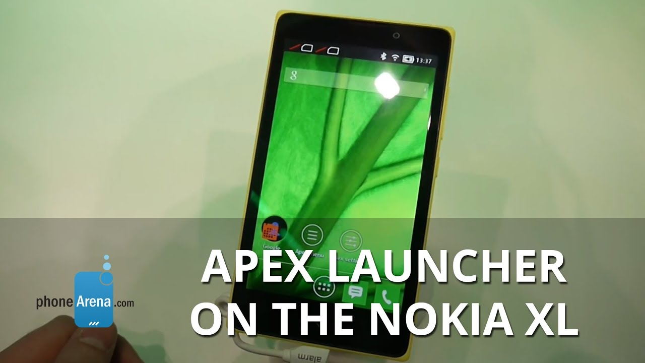 Apex Launcher running on the Android powered Nokia XL