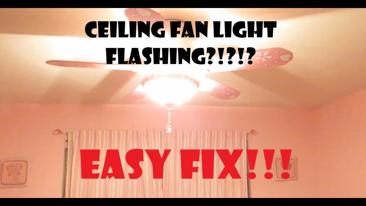 Ceiling Fan Flickering Easy Fix