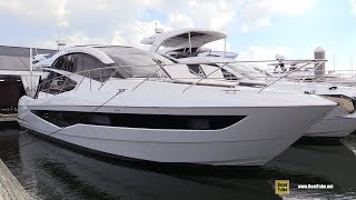 2019 Galeon 560 Sky Luxury Yacht - Deck Interior Walkaround - 2018 Fort Lauderdale Boat Show