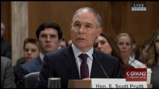 Pruitt Grilled On Campaign Donations From Fossil Fuel Industry