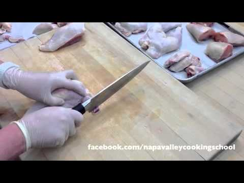 How to Cut a Whole Chicken from a Professional Cooking School