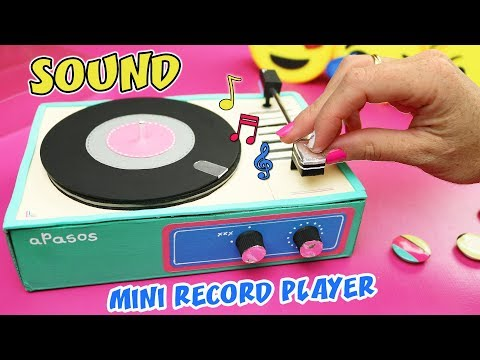 MAKE A GIFT WITH MUSICAL MESSAGE - MINI RECORD PLAYER THAT SOUND | aPasos Crafts DIY