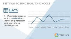 Time Your Email Campaigns to Schools and Districts