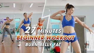 BEST WAY TO BURN BELLY FAT in 27 Minutes for Beginner - Dance Workout | Eva Fitness