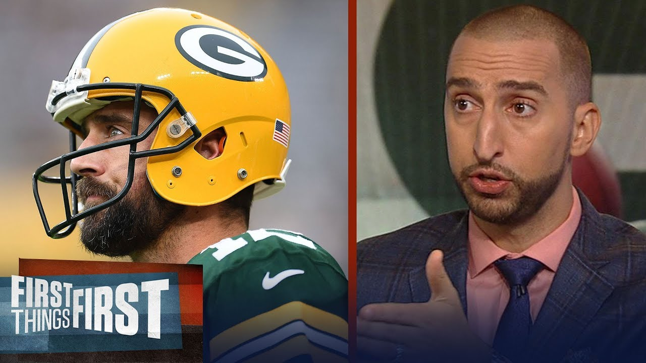 Nick Wright is 'nervous for Rodgers' if he plays this Sunday vs. Vikings | NFL | FIRST THINGS FIRST