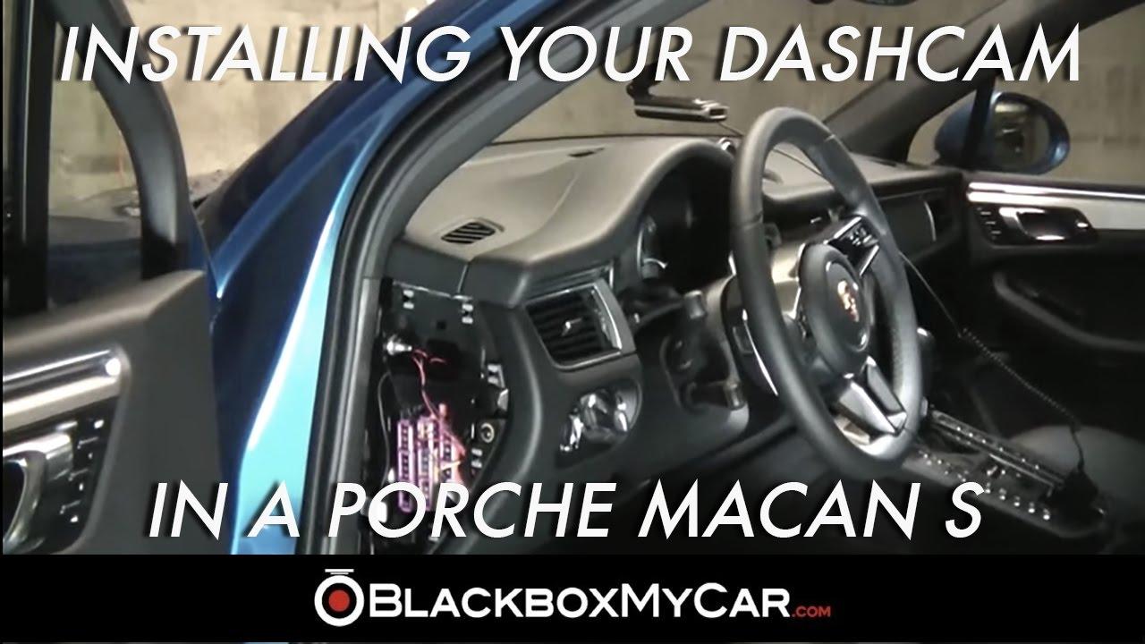 how to install a dashcam on porsche macan s blackboxmycar youtube rh youtube com Porsche Boxster Porsche Boxster