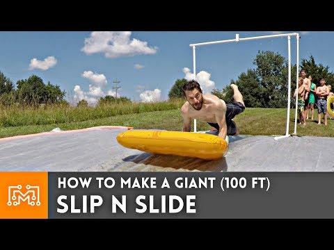 How To Make A Giant (100ft) Slip N Slide