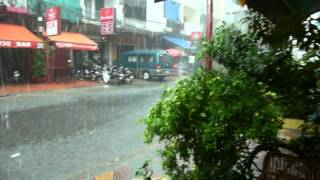 Heavy rain, Street 136 Phnom Penh.