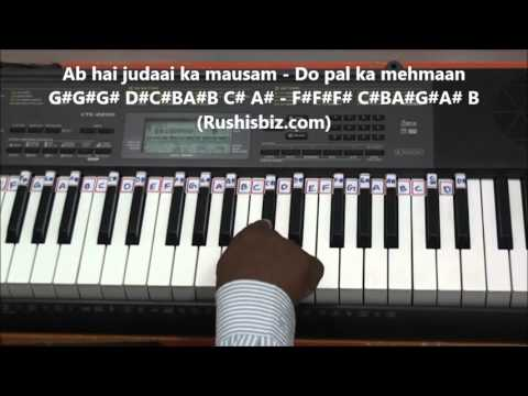 Aye Mere Humsafar Piano Tutorials | QSQT | All Is Well