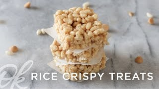 Rice Crispy Treats | No Bake + 3 Ingredients