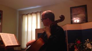 J.S. Bach, Prelude to Suite #5 in C minor, Robert K. Docker scordatura cello