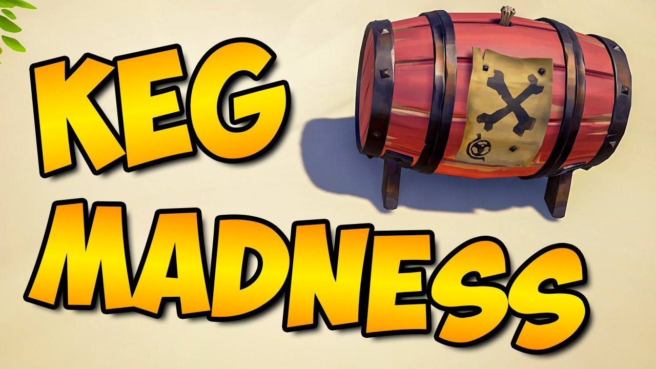Solo Sloop KEG MADNESS in Sea of Thieves