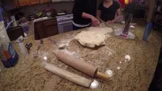 Chrissy Making Italian Meat Pie For Easter
