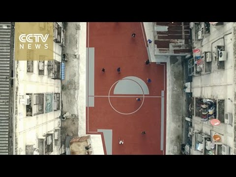 World first non-rectangular football pitches created in Bangkok slum