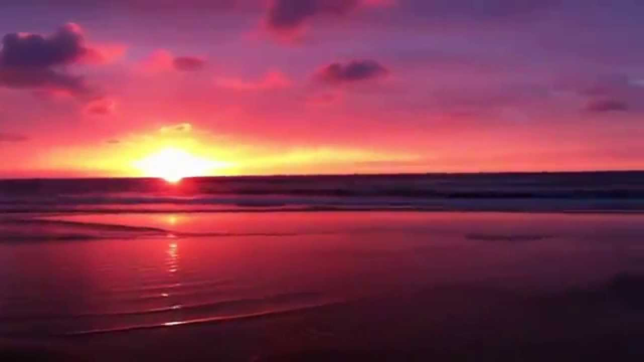 Sunset On Playa De Liencres (anochecer) HD