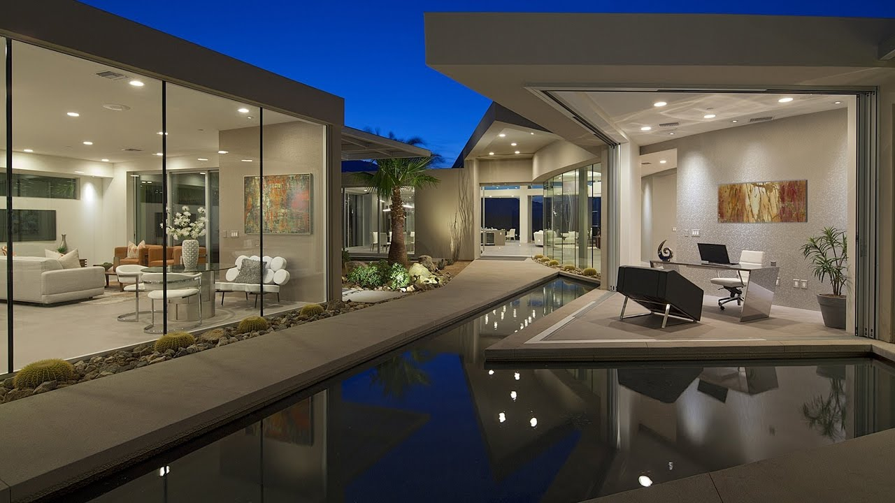 Behind the Gates  Modern Contemporary Desert House Palm Springs  YouTube