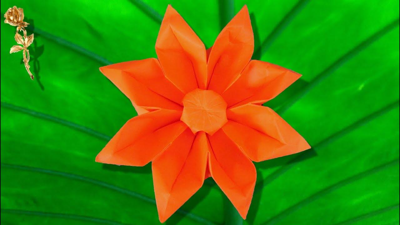 Origami fleur gerbera makoto yamaguchi youtube - Youtube origami fleur ...